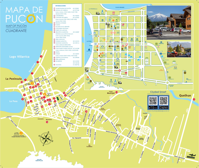 Mapa de Pucón